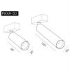 Трековый светодиодный светильник PIXAR 34-50/160-6 DIM DALI
